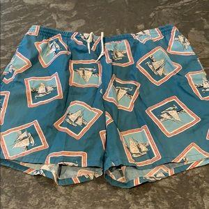 Vintage Lacoste Swim Trunks.
